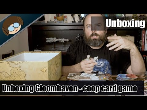 Unboxing gloomhaven: a cooperative card-driven game of combat