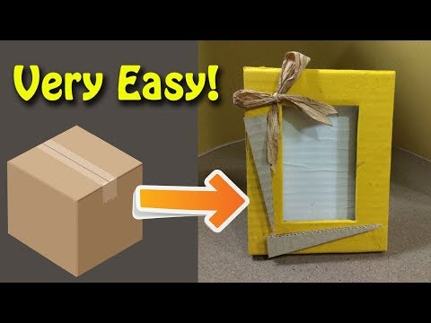 Photo Frame Ideas for Walls - DIY Picture Frame with Cardboard - Home Decorating Ideas