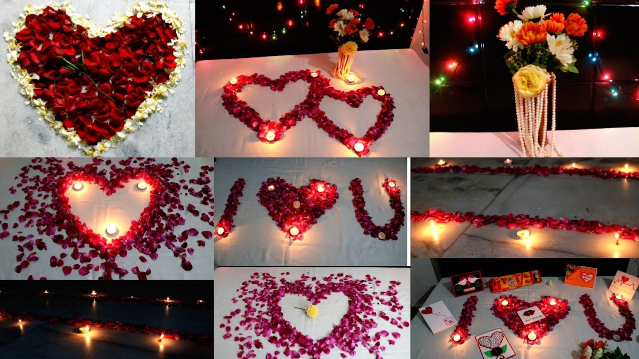 Romantic room decoration for valentine 39 s day 7 romantic - Valentine day room decoration ...