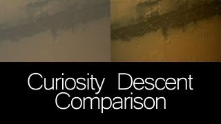 Complete MSL Curiosity Descent Interpolated Comparison Video