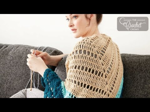 How to Crochet A Shawl: Comfort Shawl