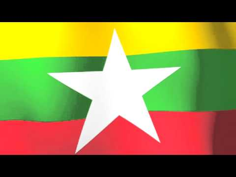 Flag of Myanmar a.k.a. Burma