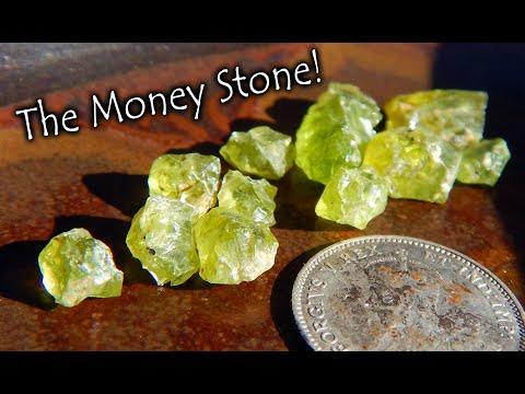 Gemstone Hunting, Finding The Money Stone!   *Peridot*
