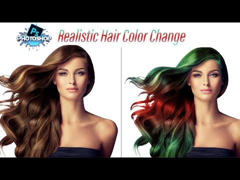 How To Change Hair Color In Photoshop Cc 2020 | Realistic Hair Color Change, The Easiest Way
