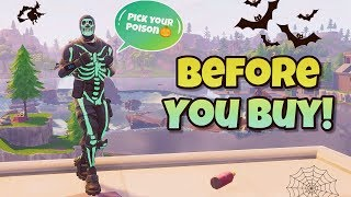"Avant d'acheter ""SKULL TROOPER"" SKIN Showcased With ALL BACK BLINGS - Fortnite Battle Royale"