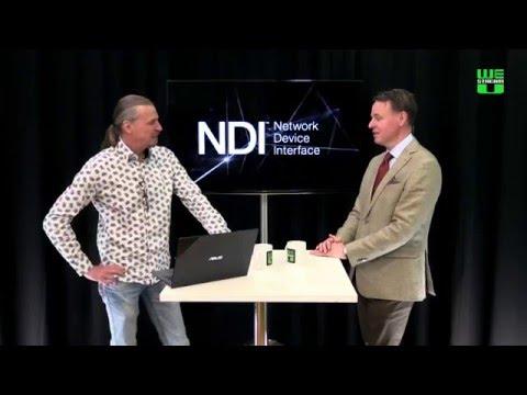 Stockholm - Kista video roundtrip using NDI over fiber