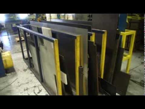 Various Sized Sheet Metal On Racks On Govliquidation Com
