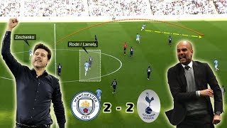 Wide Overloads & Attacking the Half Spaces | Man City vs Tottenham 2-2 | Tactical Analysis