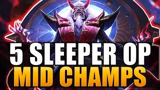 TOP 5 SLEEPER OP MID LANERS - League of Legends