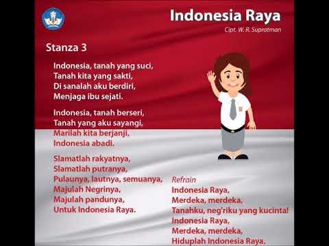 Indonesia Raya Full 3 Stanza Lirik Dan Lagu
