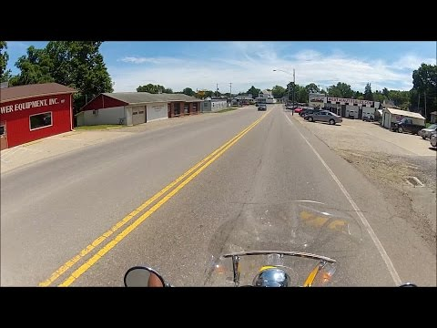 Motorcycle Riding Tour South Side Cambridge Ohio GoPro Helmet Cam