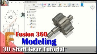 3d Shaft Gear Tutorial With Fusion 360