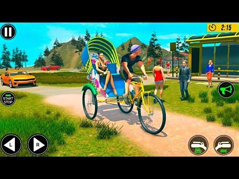 Bicycle Tuk Tuk Auto Rickshaw : New Driving Games #GamePlay thumbnail