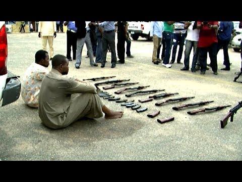 Cross-Border Smuggling: Police Parade Arms Dealer, Impound 10 AK47 Rifles