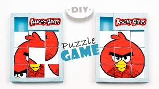 Diy Puzzle Game Angry Birds | How To Make Game with Paper