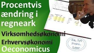 Virksomhedsøkonomi - Procentvis ændring i regneark 20131217 kabu v 1 0