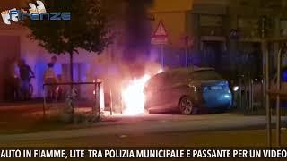 Passante riprende incendio con telefonino, scoppia lite con polizia municipale. Rischio denuncia