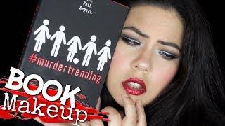 BOOK THEMED MAKEUP | #MurderTrending | White Eyeliner & Glitter Red Lips