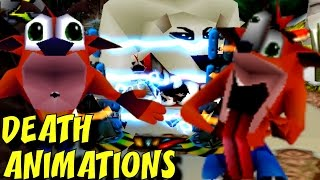 Crash Bandicoot 1, 2 and 3 - ALL Death Animations