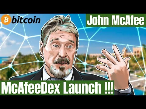 John McAfee Launches Decentralized Cryptocurrency Exchange McAfeeDex in Beta! | Bitcoin News Today