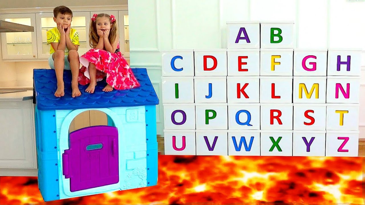 ABC Learn English Alphabet with Dina and Roma
