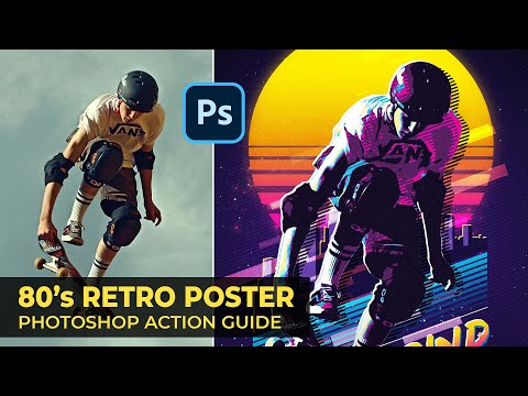 80s Retro Poster Photoshop Action Guide