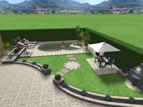 Excellent garden design for private client with swimming for Laghetto balneabile progetto