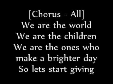 parole chanson we are the world