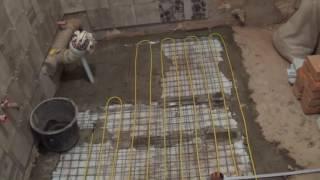 видео Кабельный теплый пол: расчет, укладка в стяжку своими руками