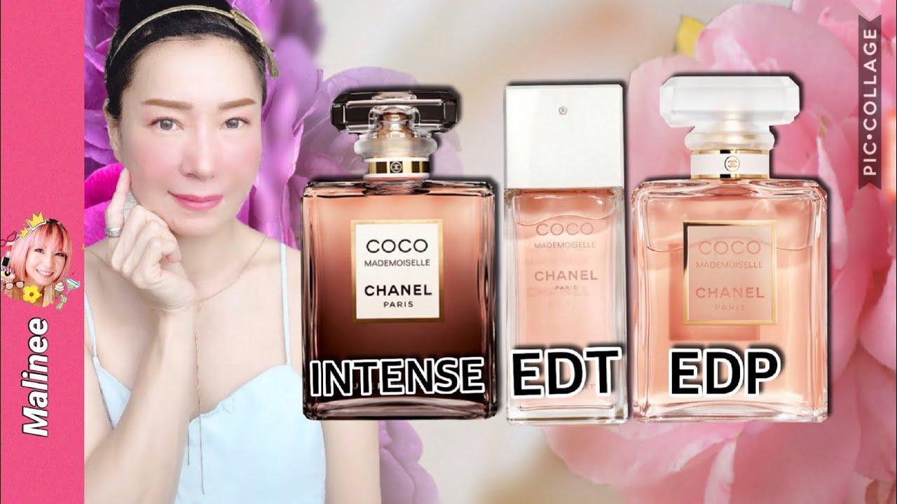 Chanel Coco Mademoiselle EDP vs Intense vs EDT รีวิวน้ำหอมผู้หญิงชาแนล เปรียบเทียบ กลิ่นไหนหอมสุด