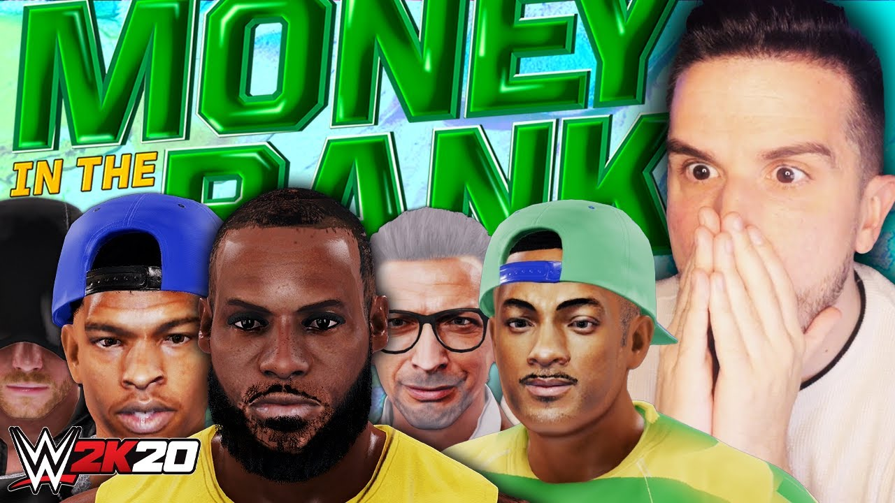 WWE 2K20 But It's A Celebrity Money In The Bank Match!
