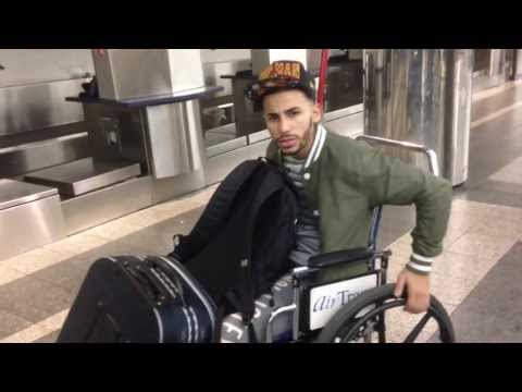 HE'S IN A WHEELCHAIR!
