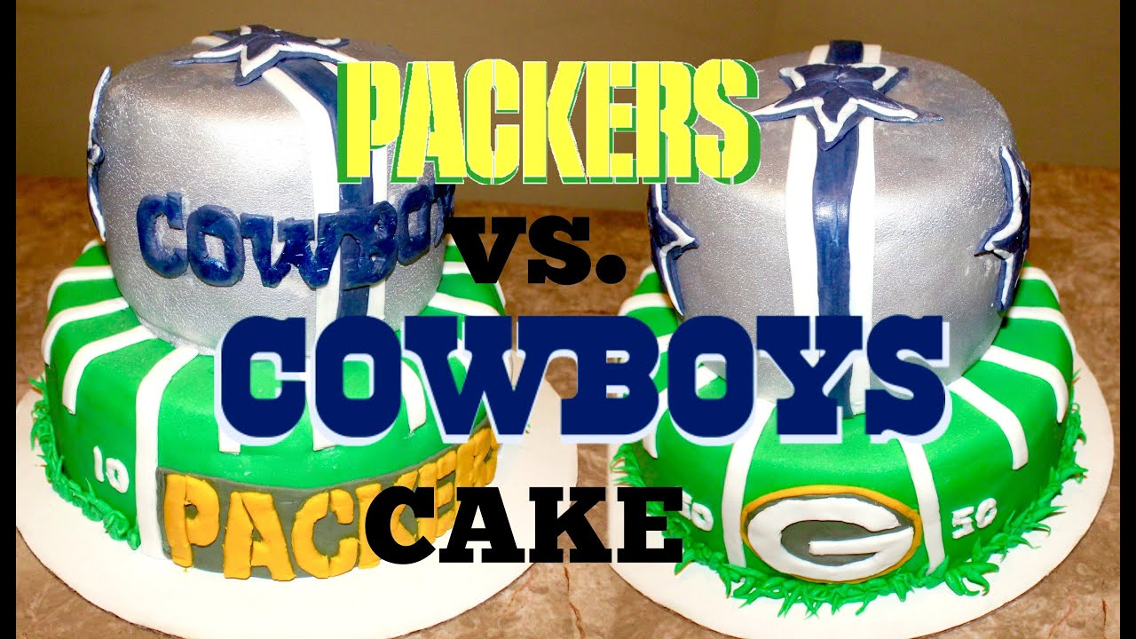 Dallas Cowboys And Greenbay Packers Football Cake Youtube