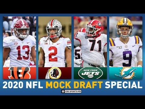 2020 NFL MOCK DRAFT Full First Round: Alabama Tua And LSU Burrow In Top 5   CBS Sports HQ