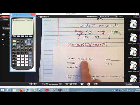 Section 5 3 groupwork Second Derivative Test and Section 5.2 problem 48