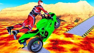 Xtreme Lava Rooftop Bike Tracks Race Gt Stunts Sim - Gameplay Android free games