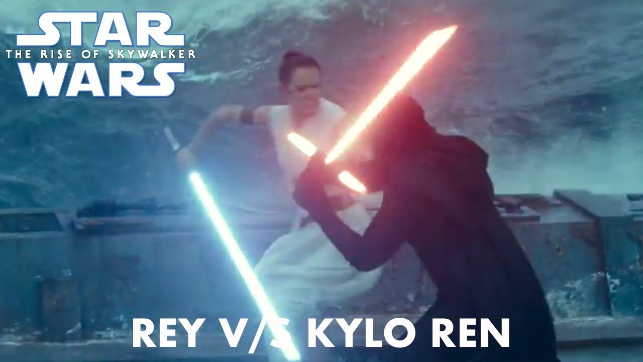 Star Wars The Rise Of Skywalker Rey Vs Kylo Ren Youtube