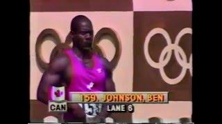 1988 Olympics Men's 100 Metre Dash Final - World Record