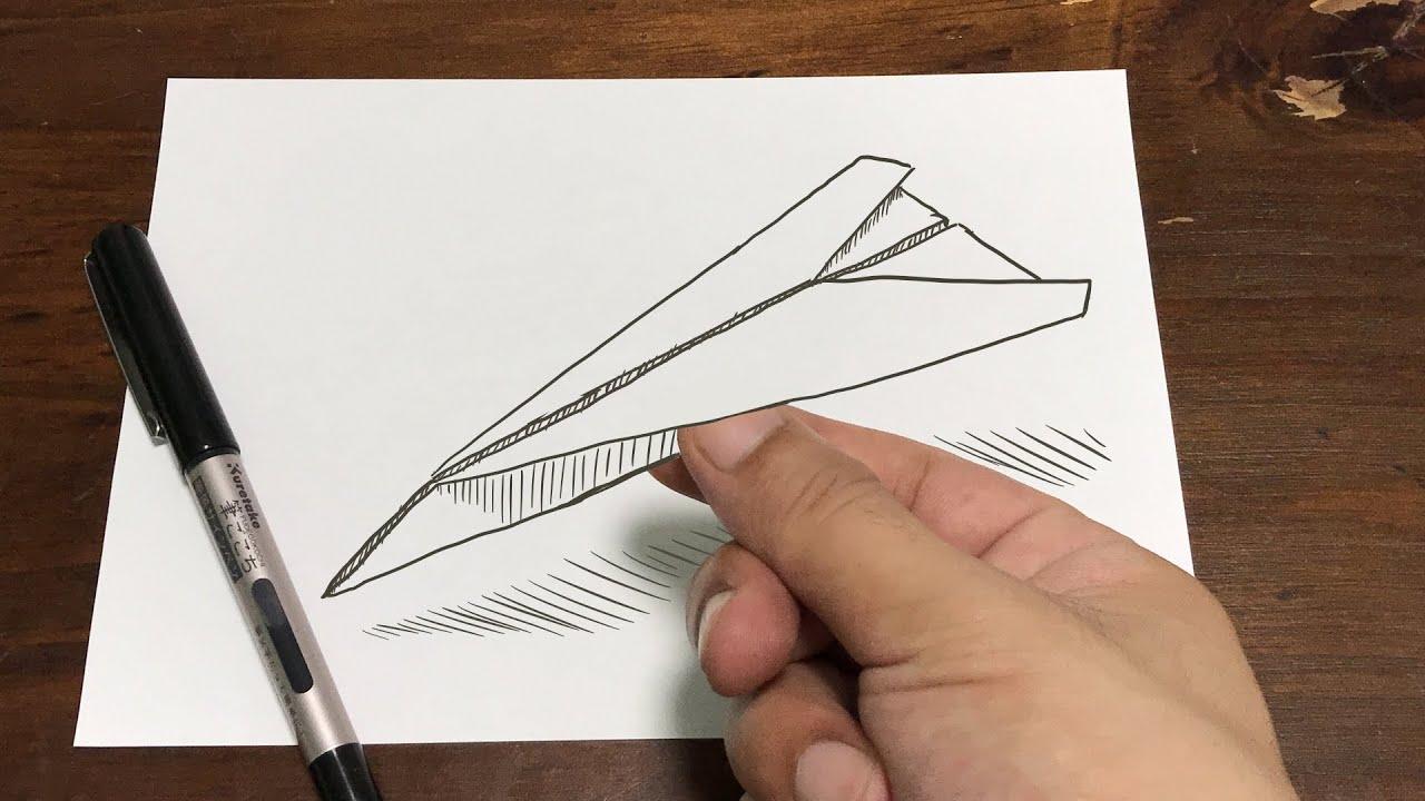 紙に 折り紙描いて 紙ひこうき折る・I wrote Origami in a paper and made an airplane【パラデル漫画】【Origami】