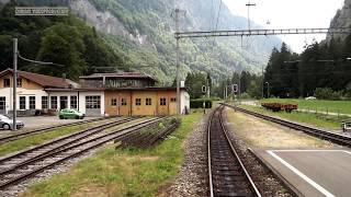 Berner Oberland Bahn (BOB) Führerstandsmitfahrt im Sommer 2015