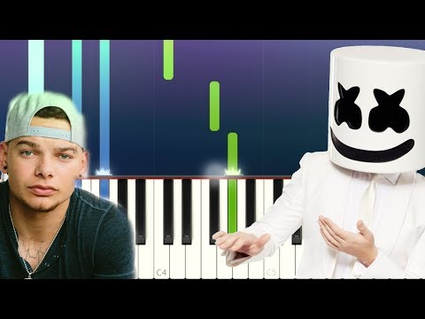 marshmello---one-thing-right-ft-kane-brown-(piano-tutorial)