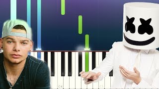 Marshmello - One Thing Right ft Kane Brown (Piano tutorial) mp3