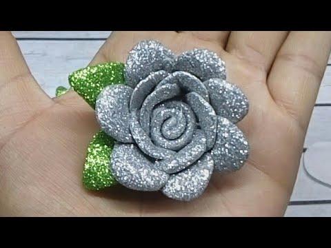 Flores de fomi f ciles de hacer tiaras para reci n nacida - Cosas de goma eva ...