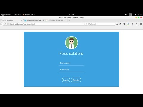 tutorial coding login page with bootstrap