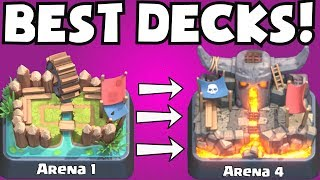 Clash Royale BEST ARENA 1 - ARENA 4 DECKS UNDEFEATED | BEST DECK ATTACK STRATEGY TIPS F2P PLAYERS