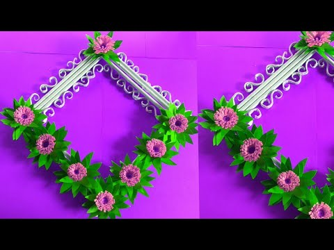 Paper Flower Wall Hanging / Easy Wall Decoration Ideas / Diy Paper Craft .