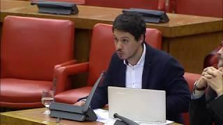 Segundo González en la Comisión de Presupuestos. 24 de enero