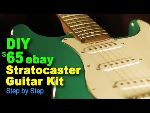 DIY $65  eBay Stratocaster guitar kit (Step by Step)