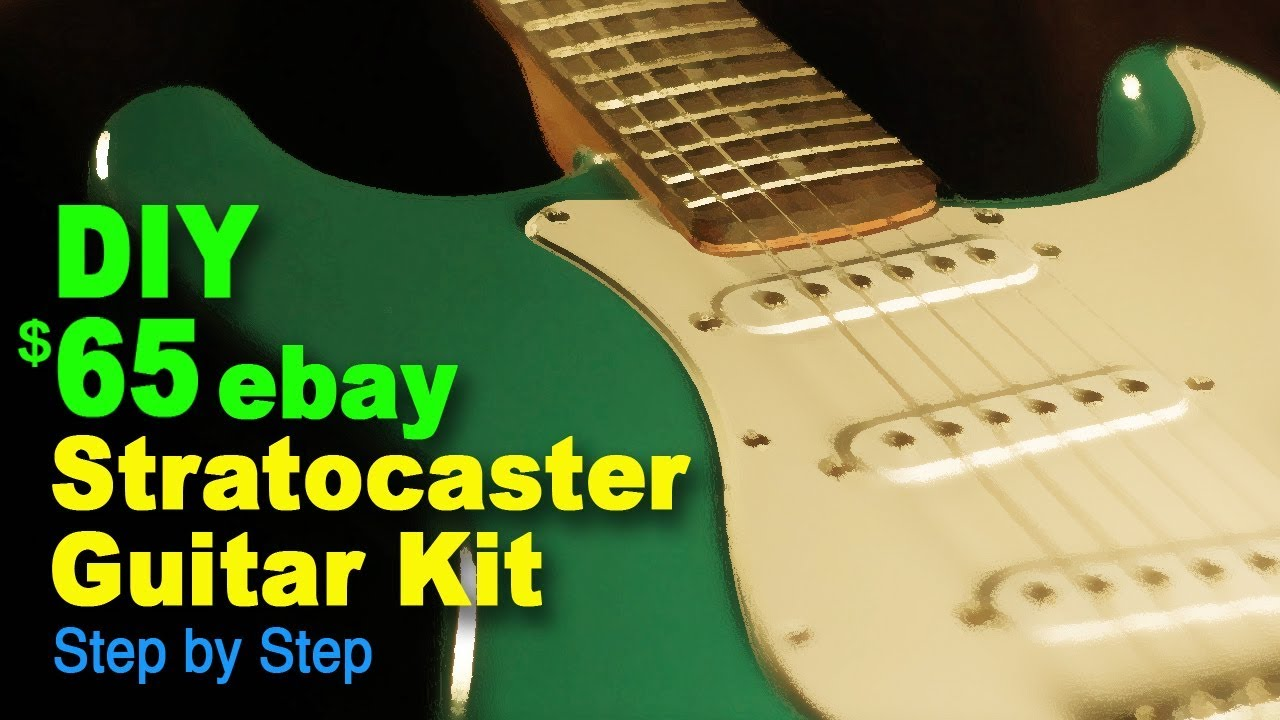 diy 65 ebay stratocaster guitar kit step by step youtube. Black Bedroom Furniture Sets. Home Design Ideas