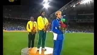 CATHY FREEMAN -CEREMONY- Sydney 2000 OLYMPICS 400m